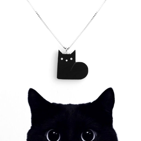 Black Cat Necklace