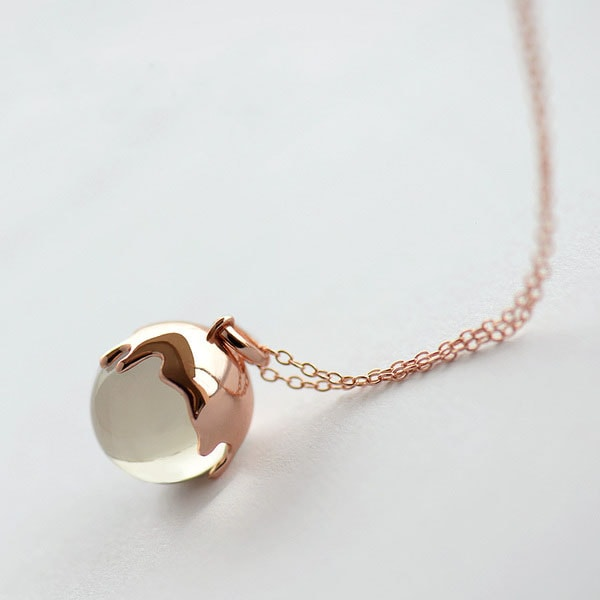 Chocolate Crystal Ball Necklace