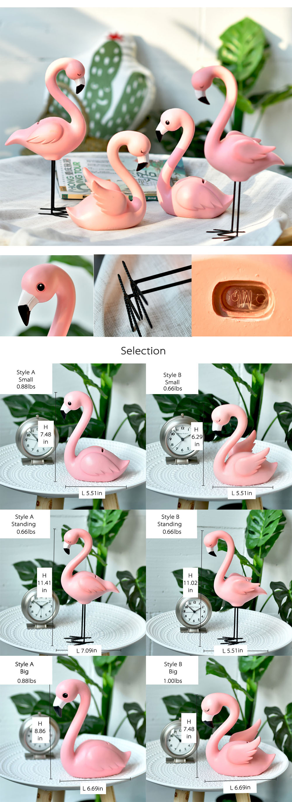 Flamingo Shaped Ceramic Plate Fairytale plates