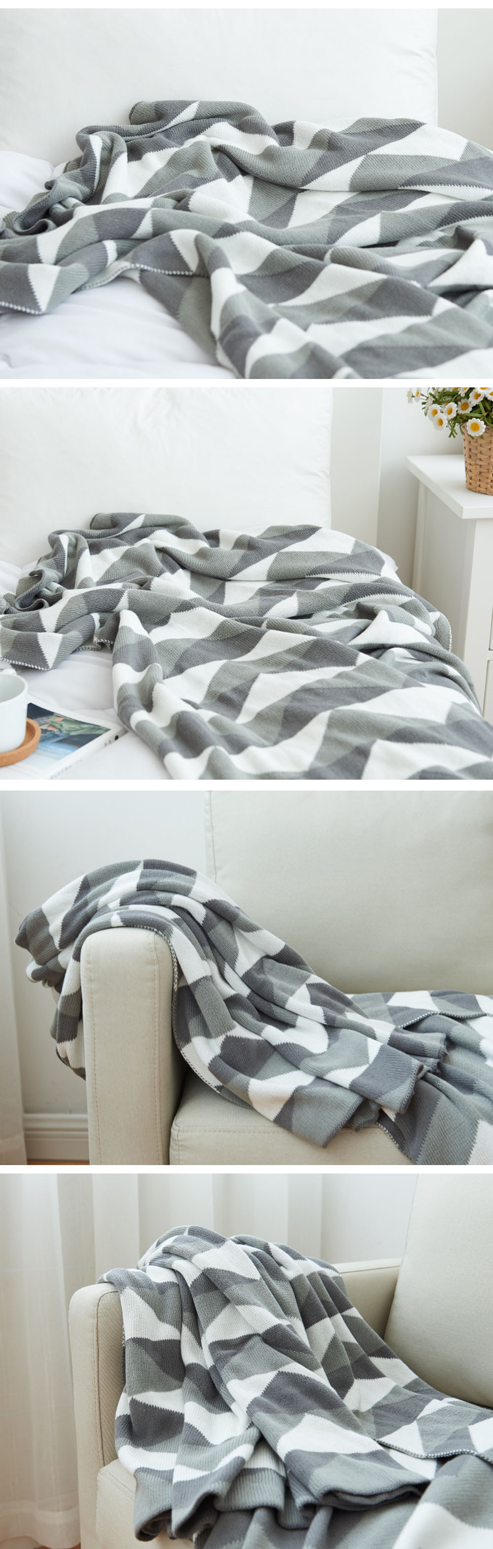 Two Tone Blanket Made of Cotton