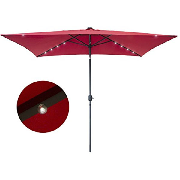 Delightful Product Image For Red Patio Umbrellas