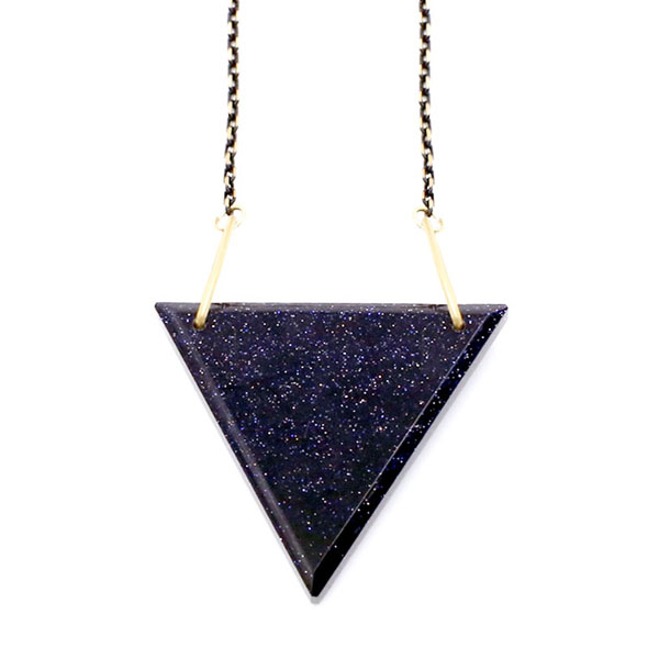 triangle products sterling buck pendant with oxidized grande silver