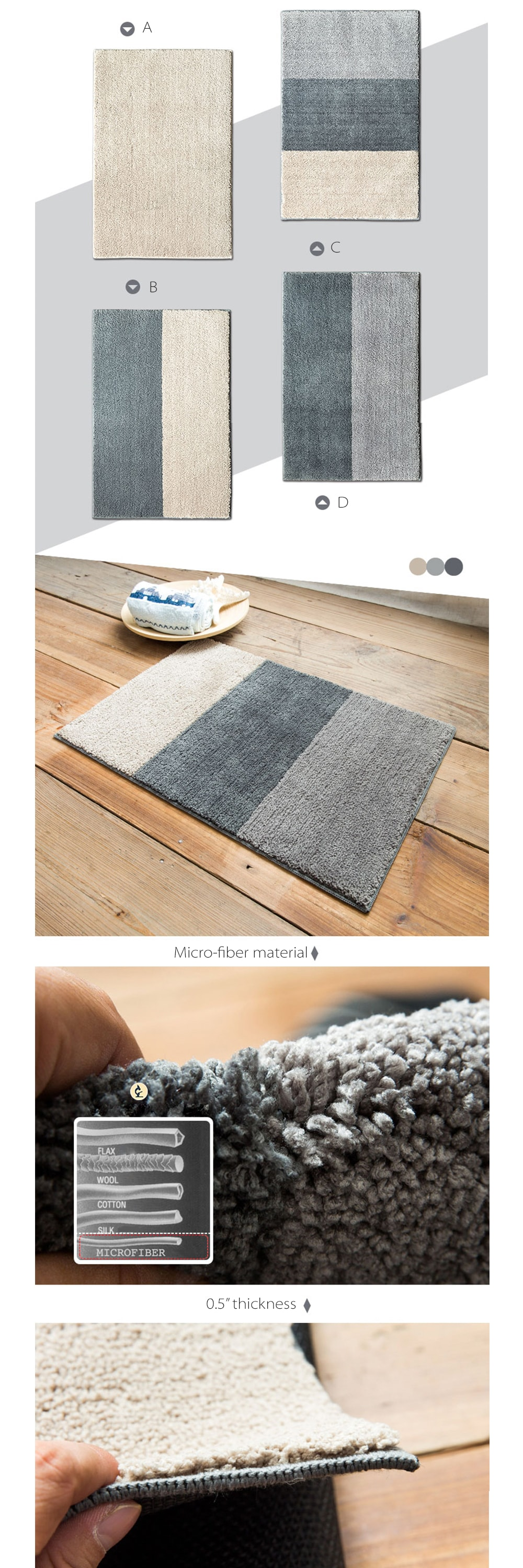 Anti-Slip Rugs No More Ordinary Rugs