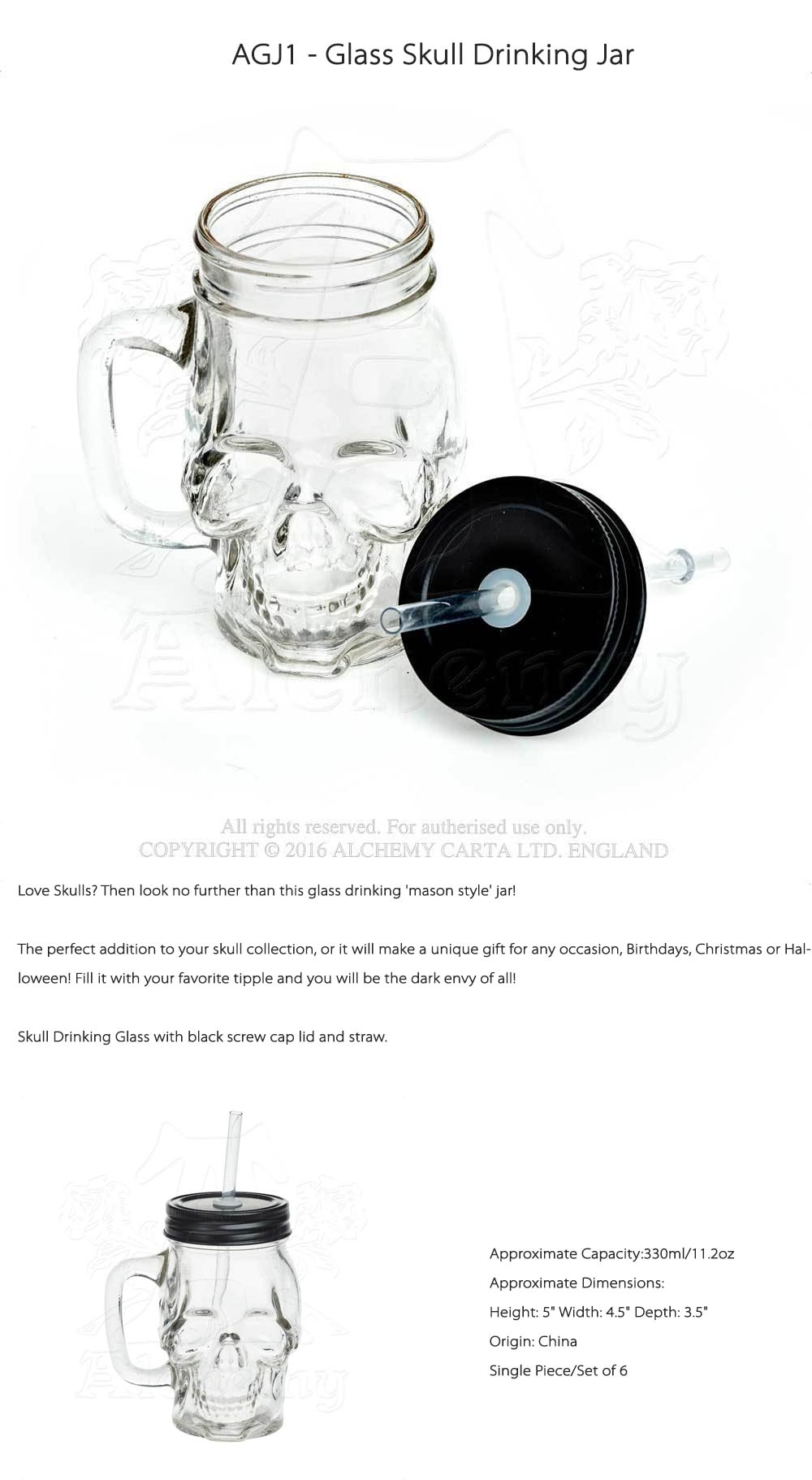 Glass Skull Drinking Jar Do You Love Skulls?