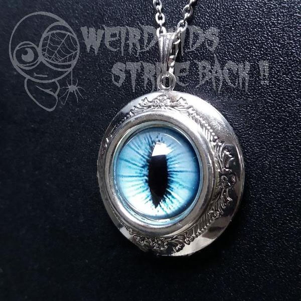 product thumbnail image for Cat's Eye Locket Necklace