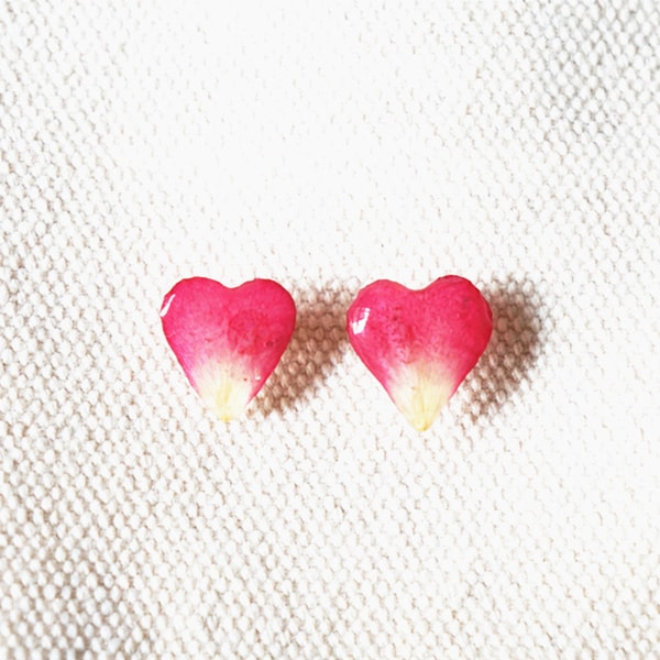 product image for Rose Petal Heart Earrings