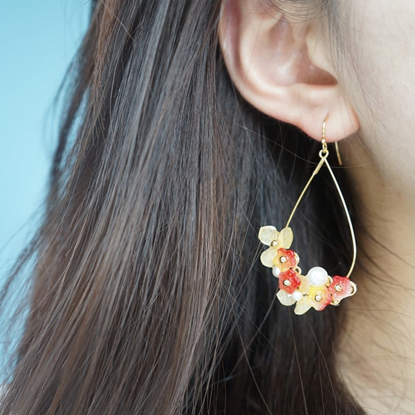 Teardrop Garland Earrings