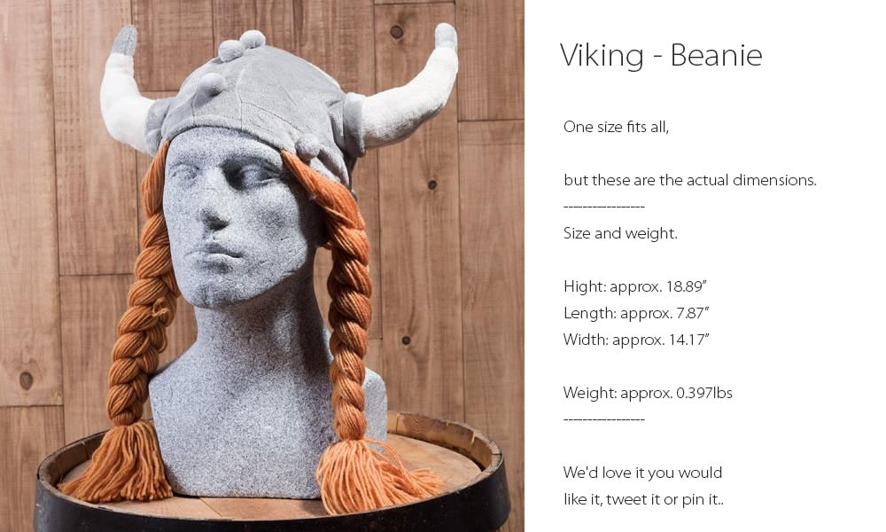 Viking Beanie One Size Fits All