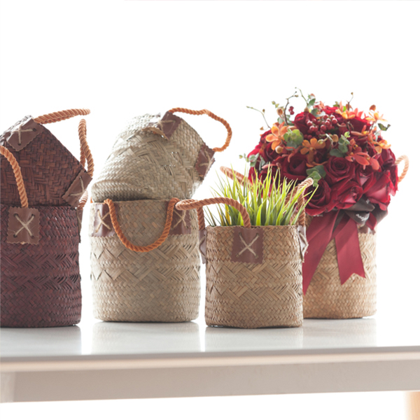 product image for Woven Basket with Rope Handle