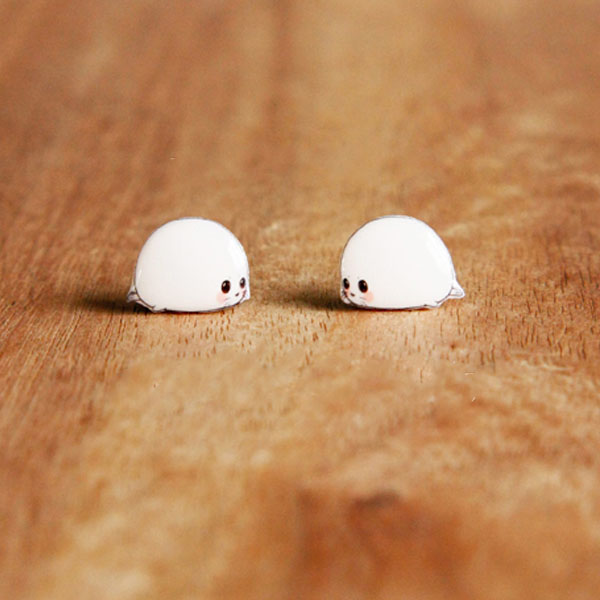 Baby Seal Earrings