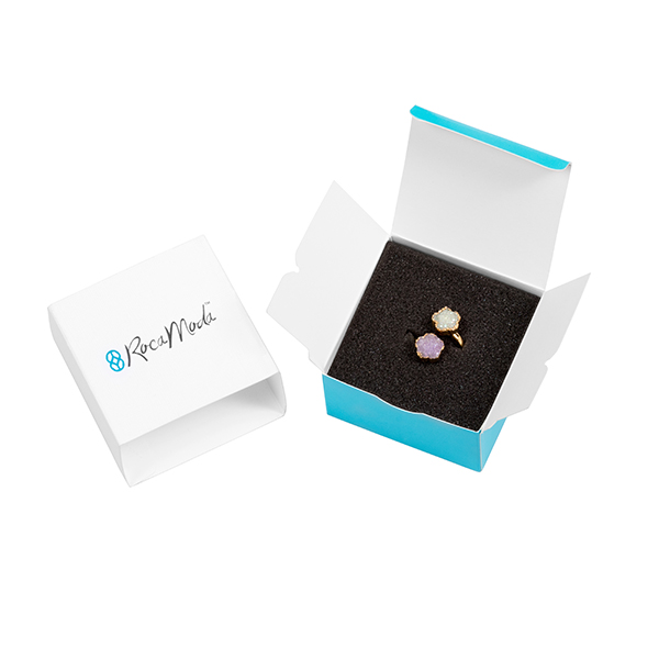 product image for Crystal Druzy Flower Ring – Lilac &Aqua
