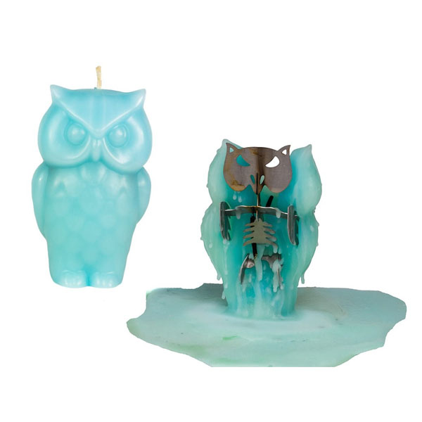 Owl Skeleton Candle