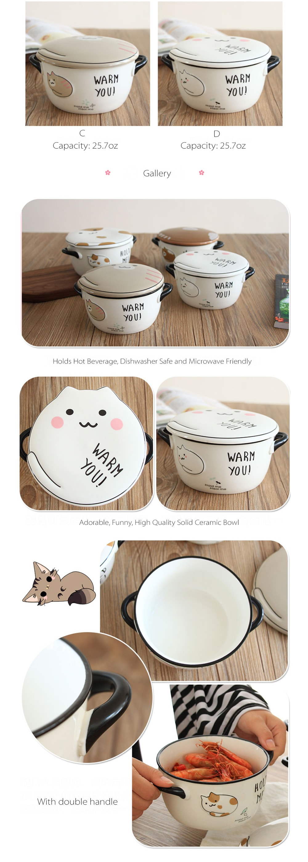 Cute Kitty Soap Bowl With Lid