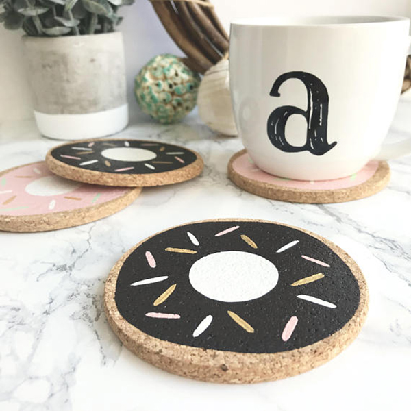 Strawberry Chocolate Donuts Coasters