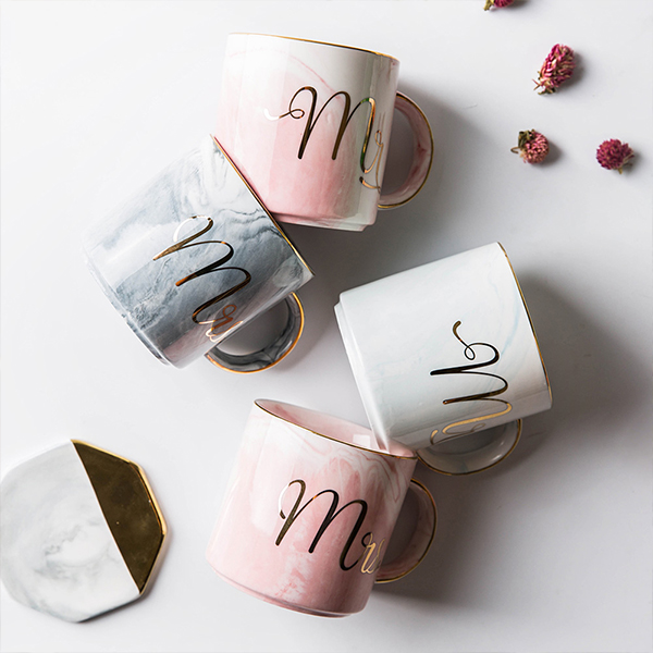 product image for Mr & Mrs Marble Mugs