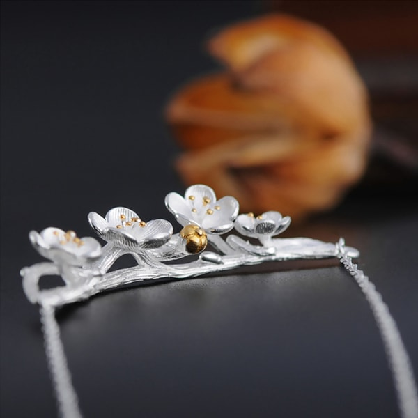 Silver Sakura Necklace