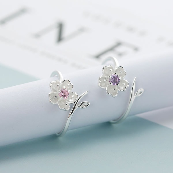 Sakura & Leaf Open Ring