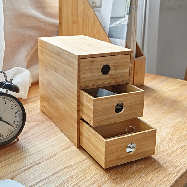 product image for 3-Drawer Bamboo Chest