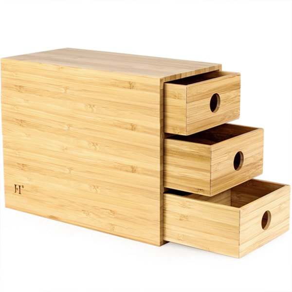 product thumbnail image for 3-Drawer Bamboo Chest