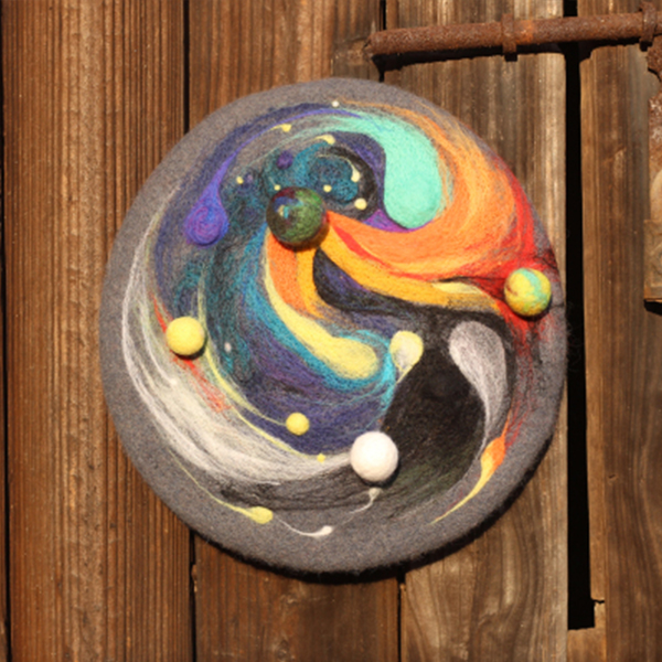 Colorful Galaxy Beret