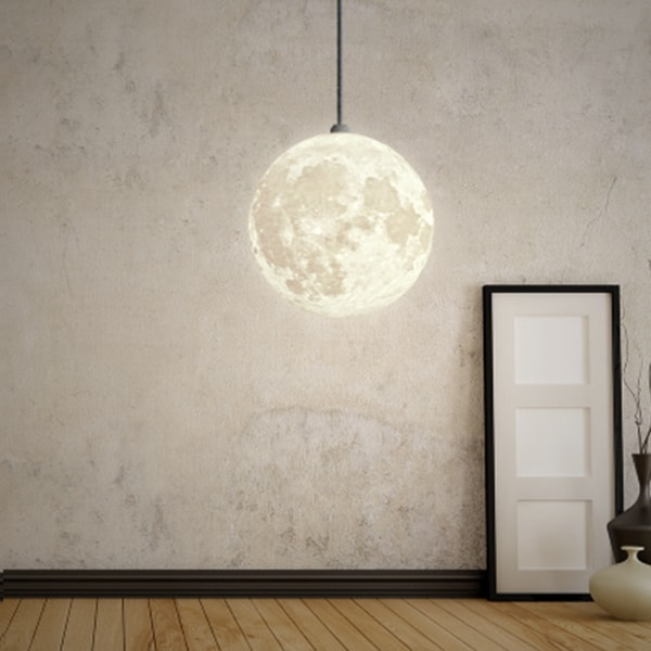 3d printed moon pendant light apollobox product image for 3d printed moon pendant light aloadofball Image collections