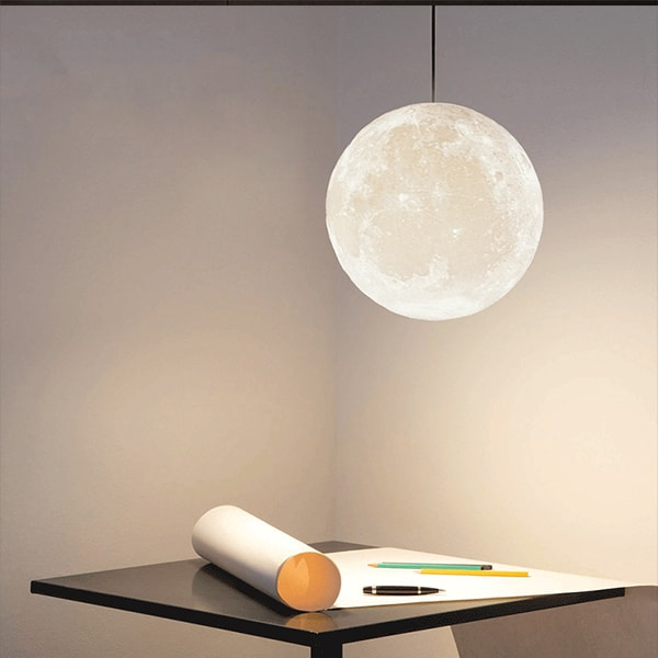 3D Printed Moon Pendant Light