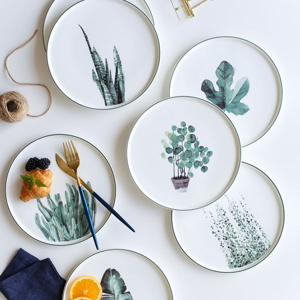 product image for Botanical Dinner Plate : dinner plate chinaware - pezcame.com