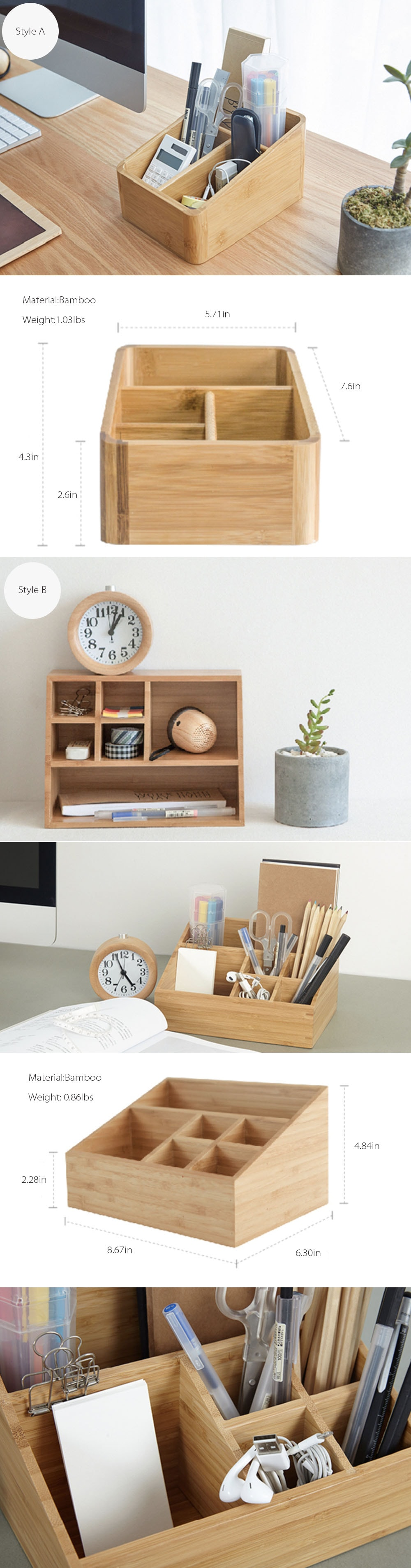 Monitor Container Classic Solid Wood Style