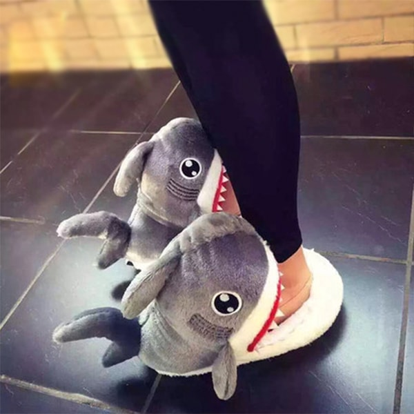 product thumbnail image for Shark Plush Slippers