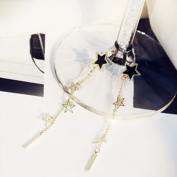 product image for Black Star Drop Earrings
