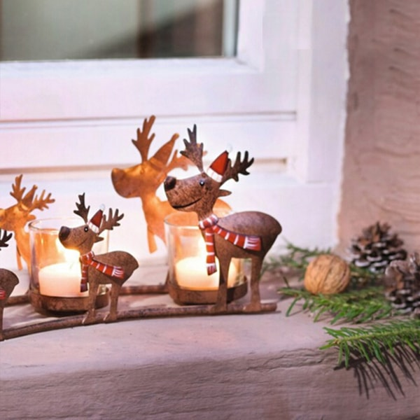 product image for Festive Reindeer Candle Holder
