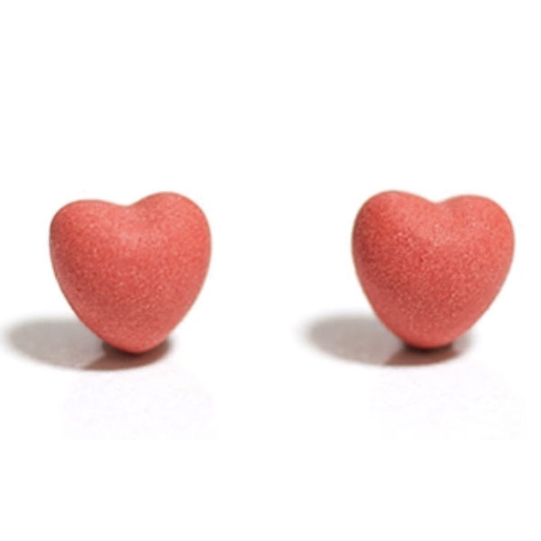 product image for Matte Heart Stud Earrings