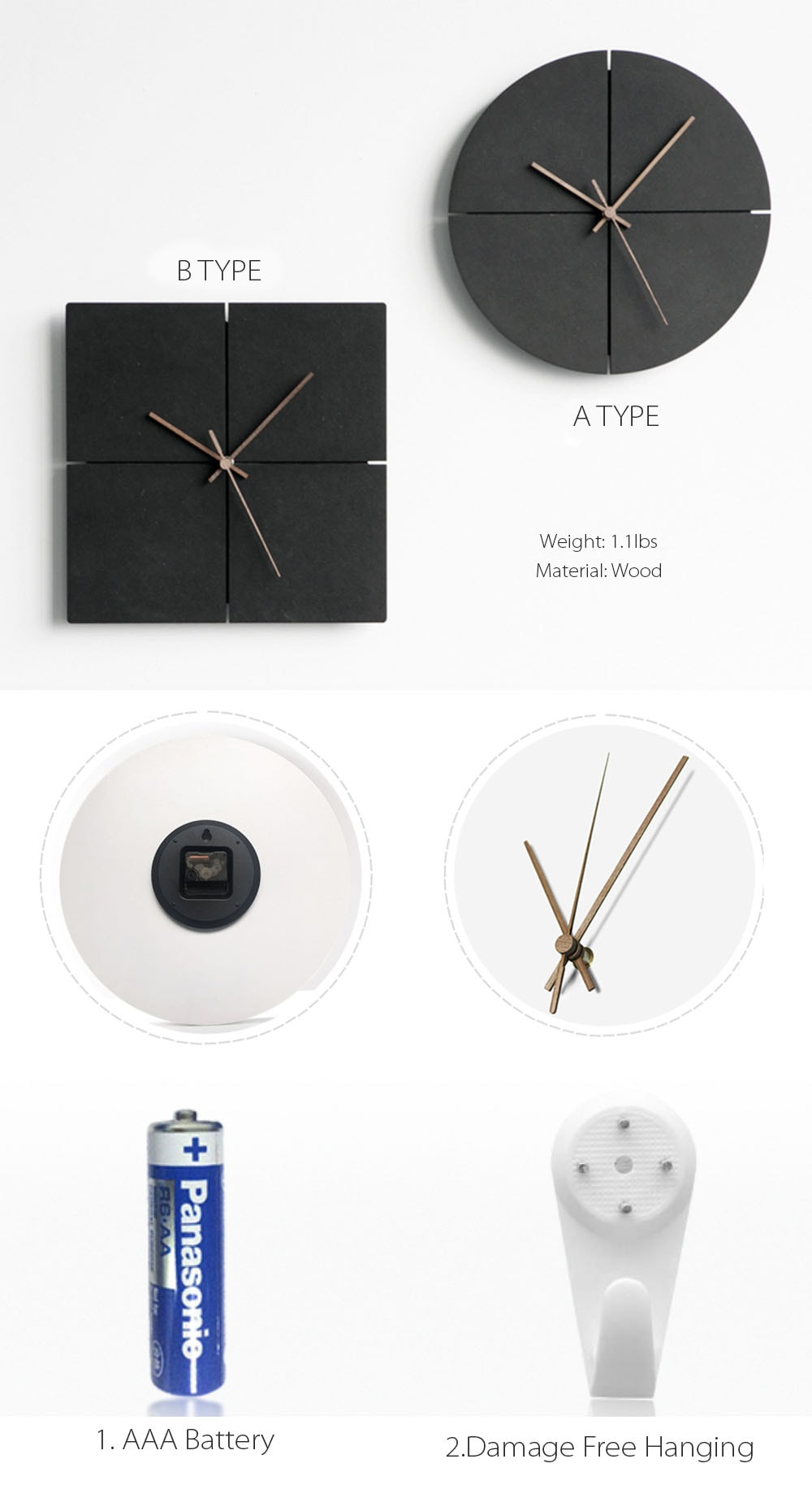 Black Clock Minimalist Design