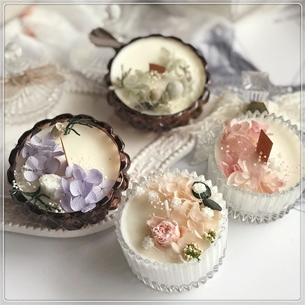 Preserved Flower Aromatherapy Candles