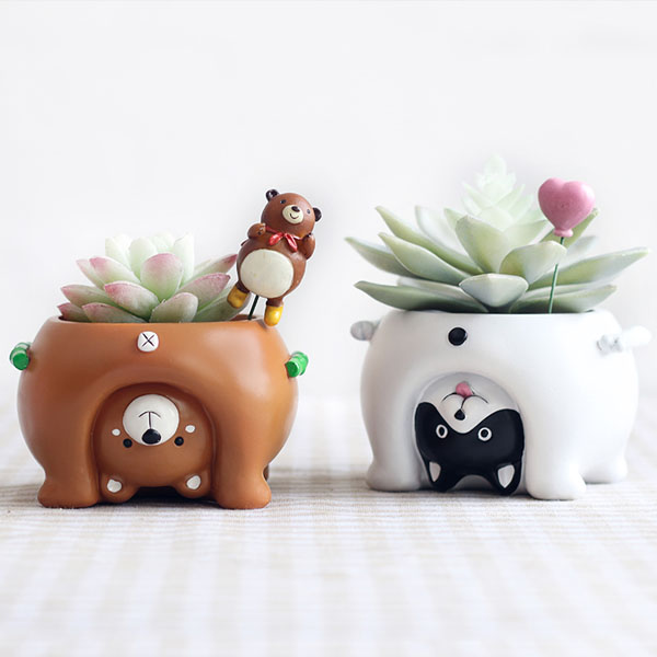 Upside Down Animal Planters