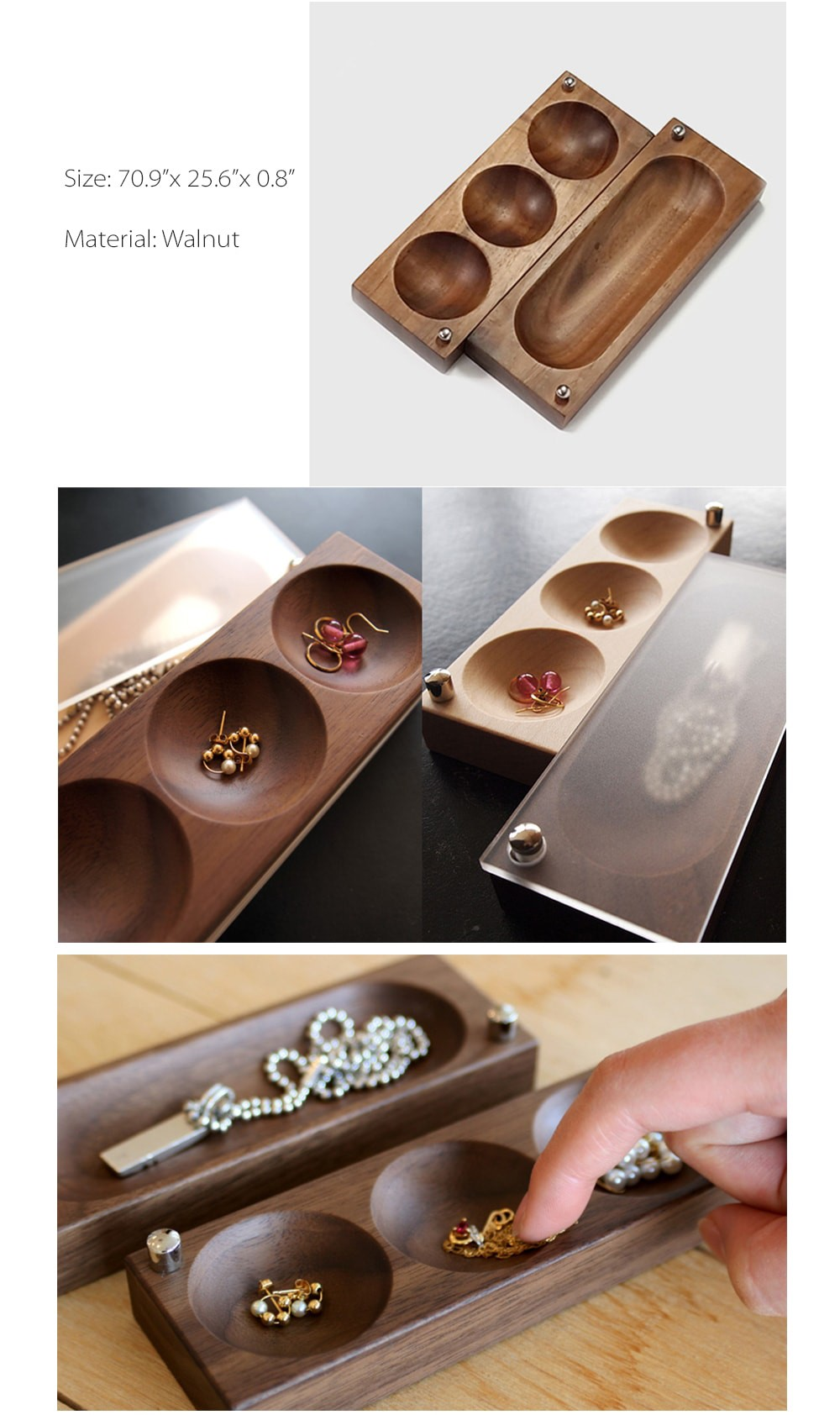 Wooden Jewelry Box  Your Jewelry Organizer