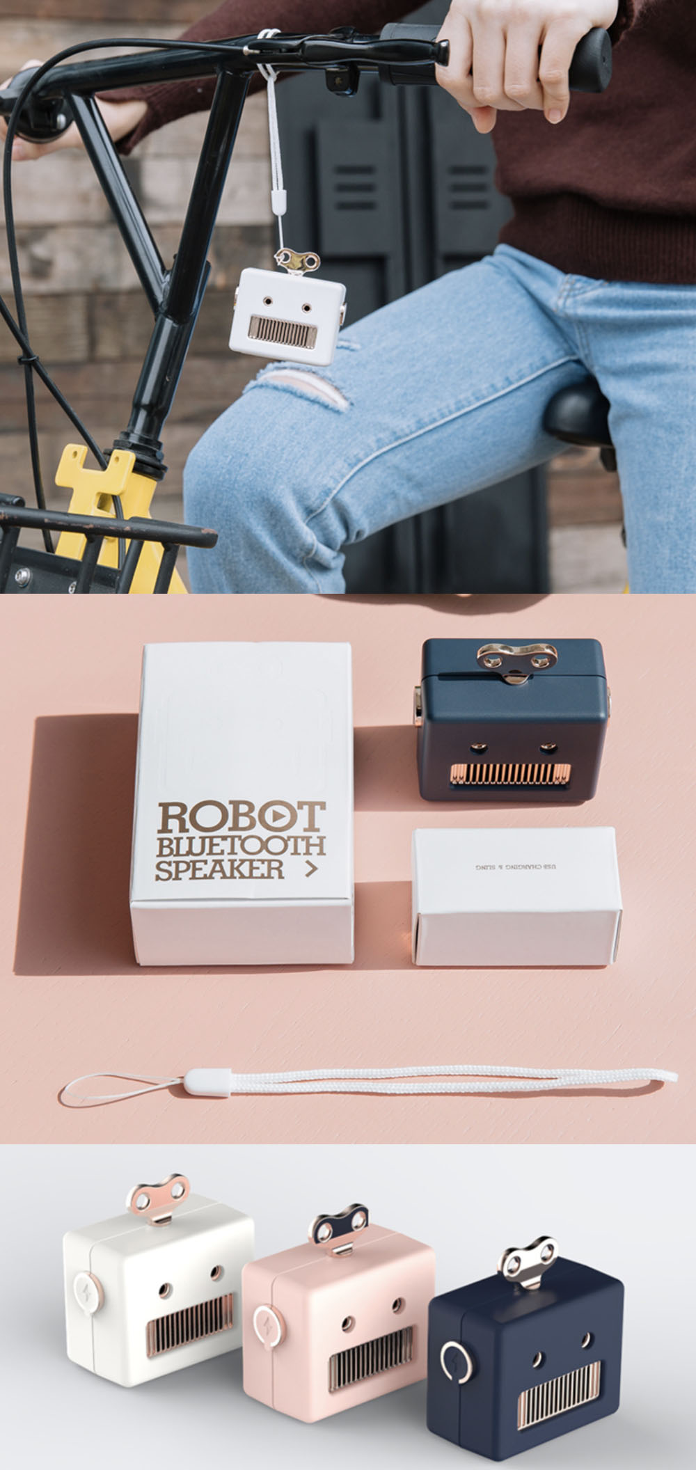 Robot Bluetooth Speaker Cute Gadget