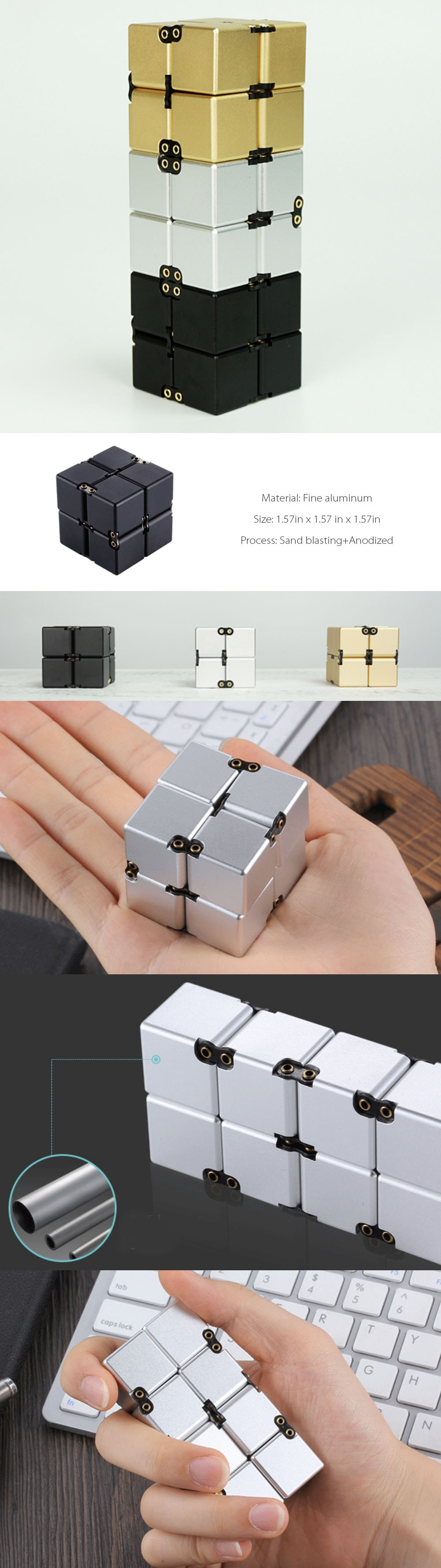 Wireless Metal Cube Geek Must Have