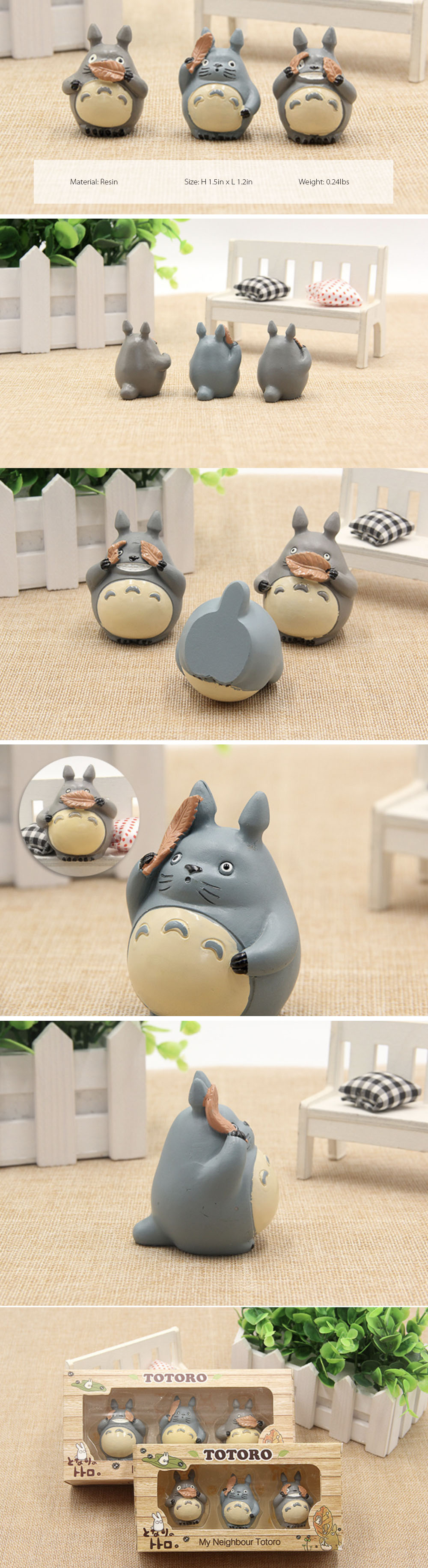 Totoro Figure Set Set of 3