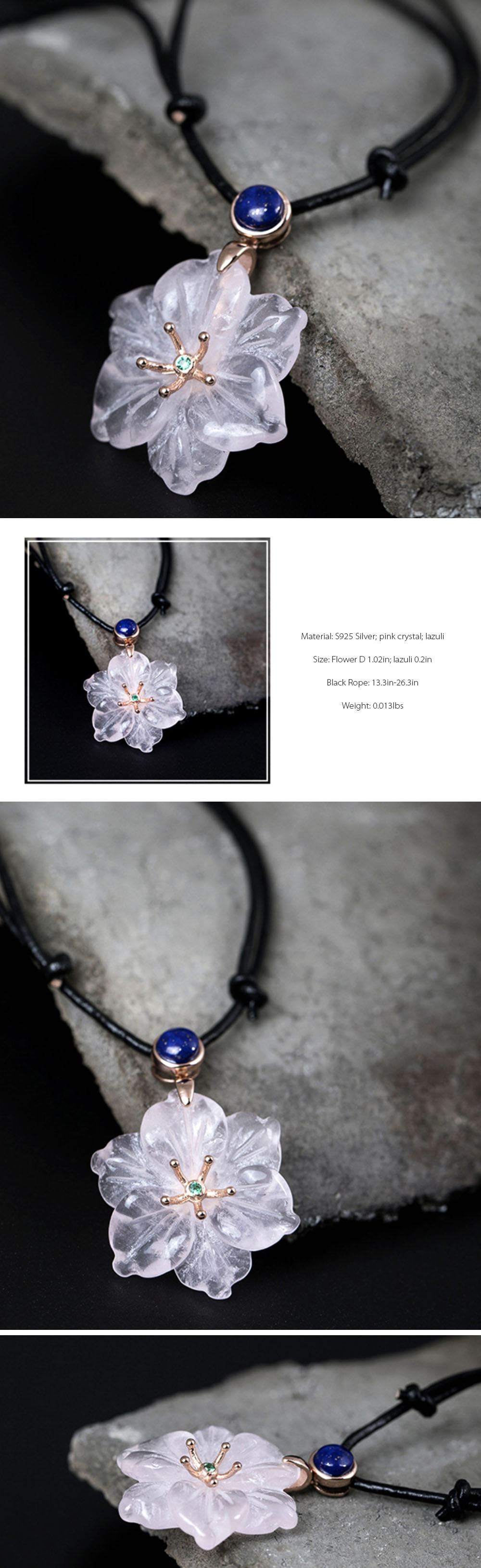 collection product necklace crystal pink blossom sakura detail cherry jewelry apollobox