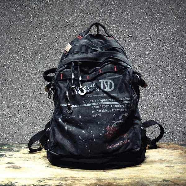 Ultra-Soft Black Canvas Backpack