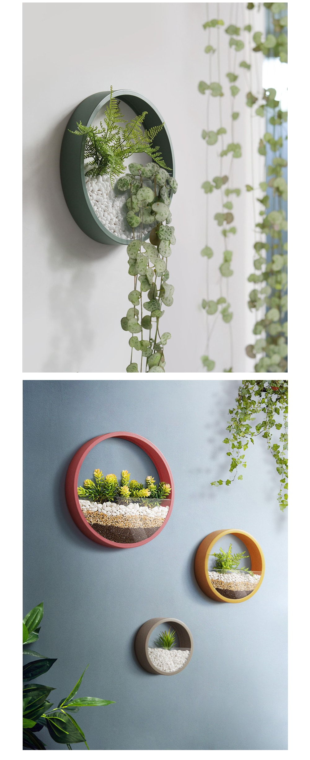 Round Wall Planter Geometric Wall Art