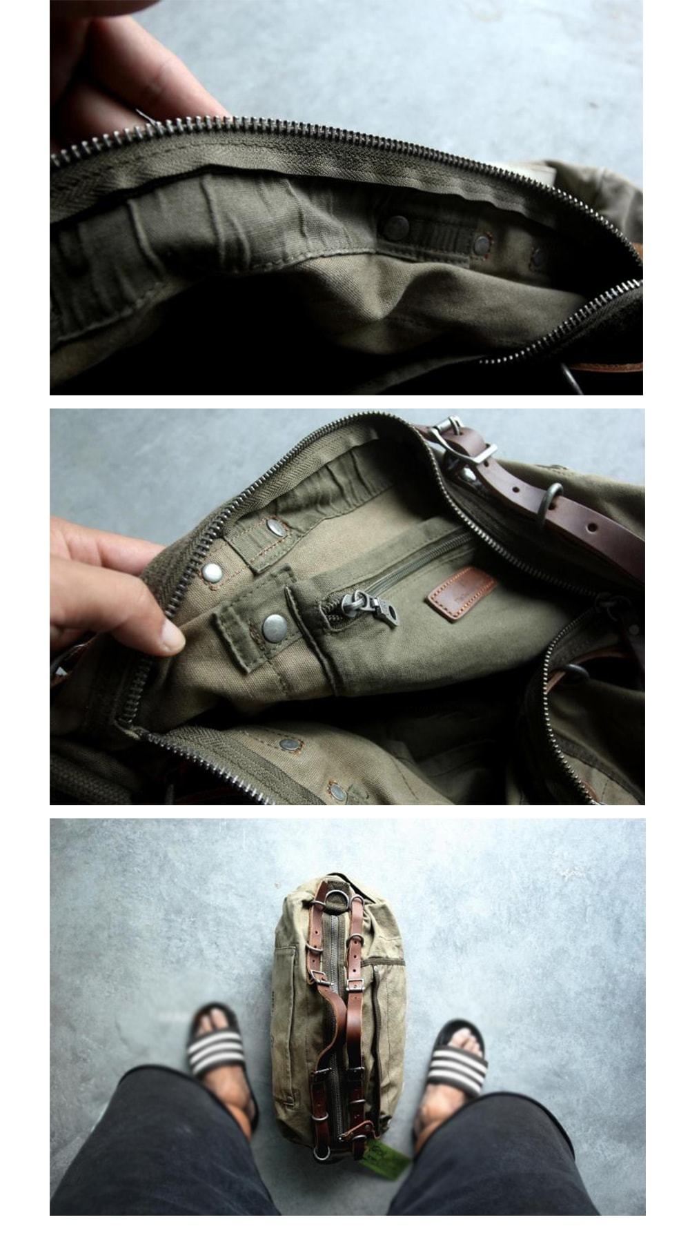Military Style Bag Vintage Design