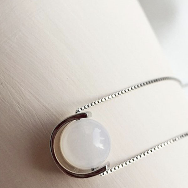 Moon Round Necklace