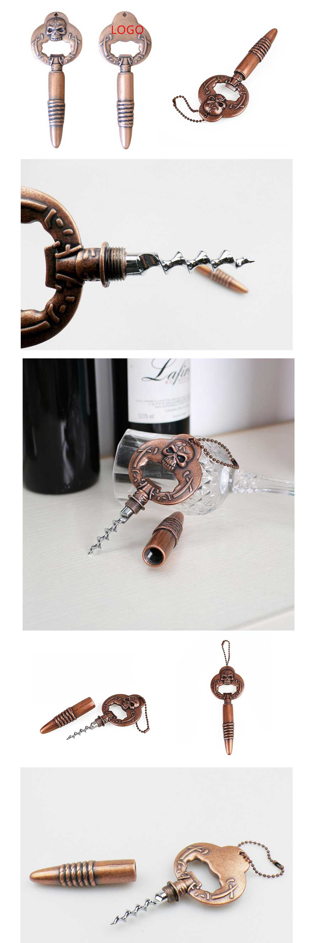 Skull 2 in 1 Beer Bottle Opener Creative Design