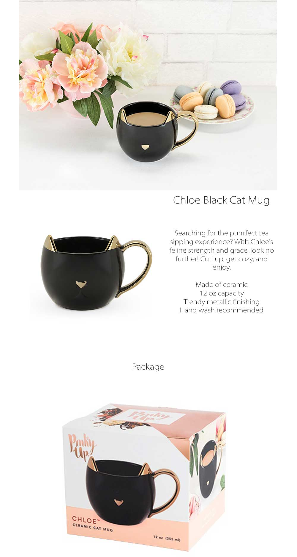 Chloe Cat Mug Creative Design