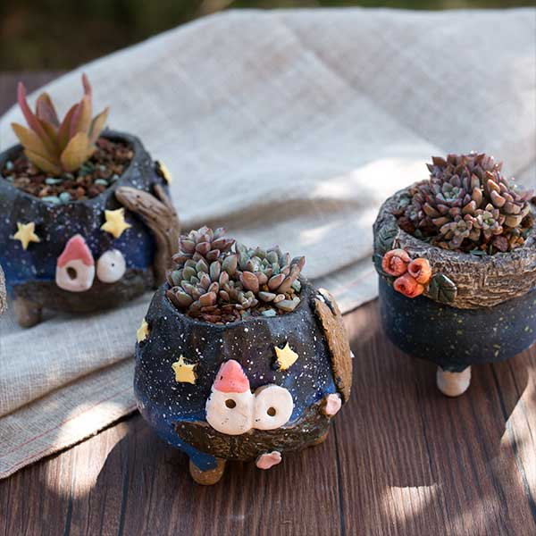 Galaxy Flower Pot