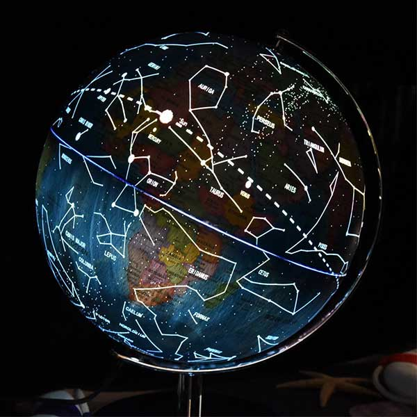 product thumbnail image for Illuminated Constellation World Globe