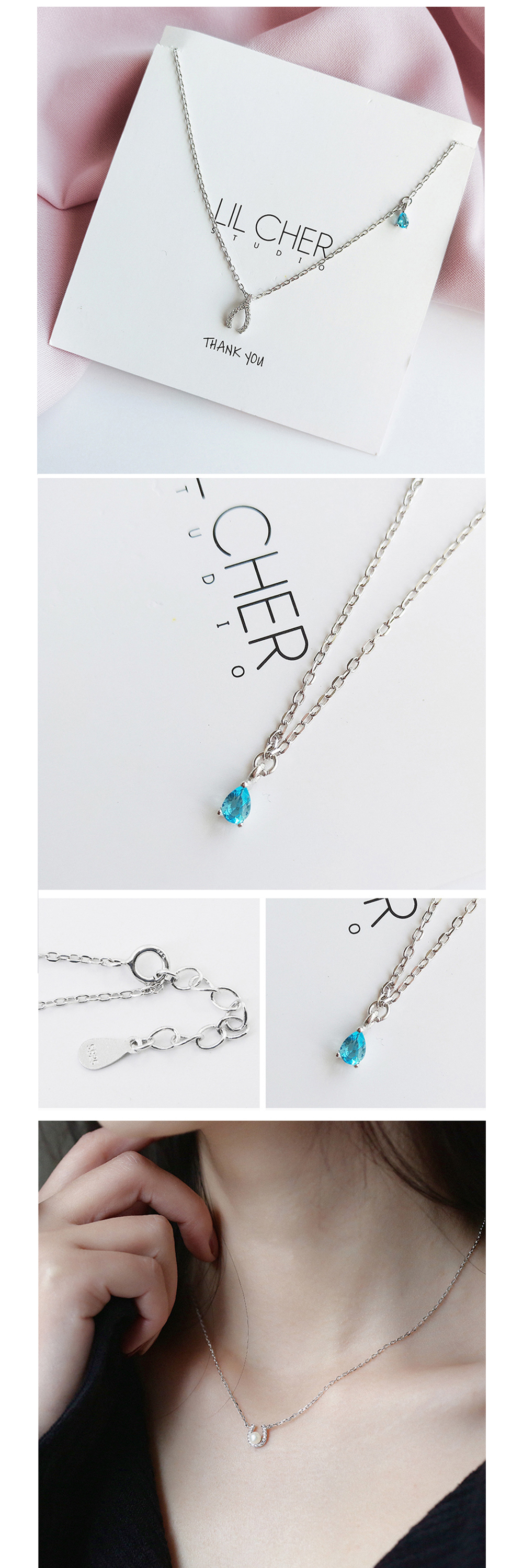 Sterling Silver Necklace Singular Style