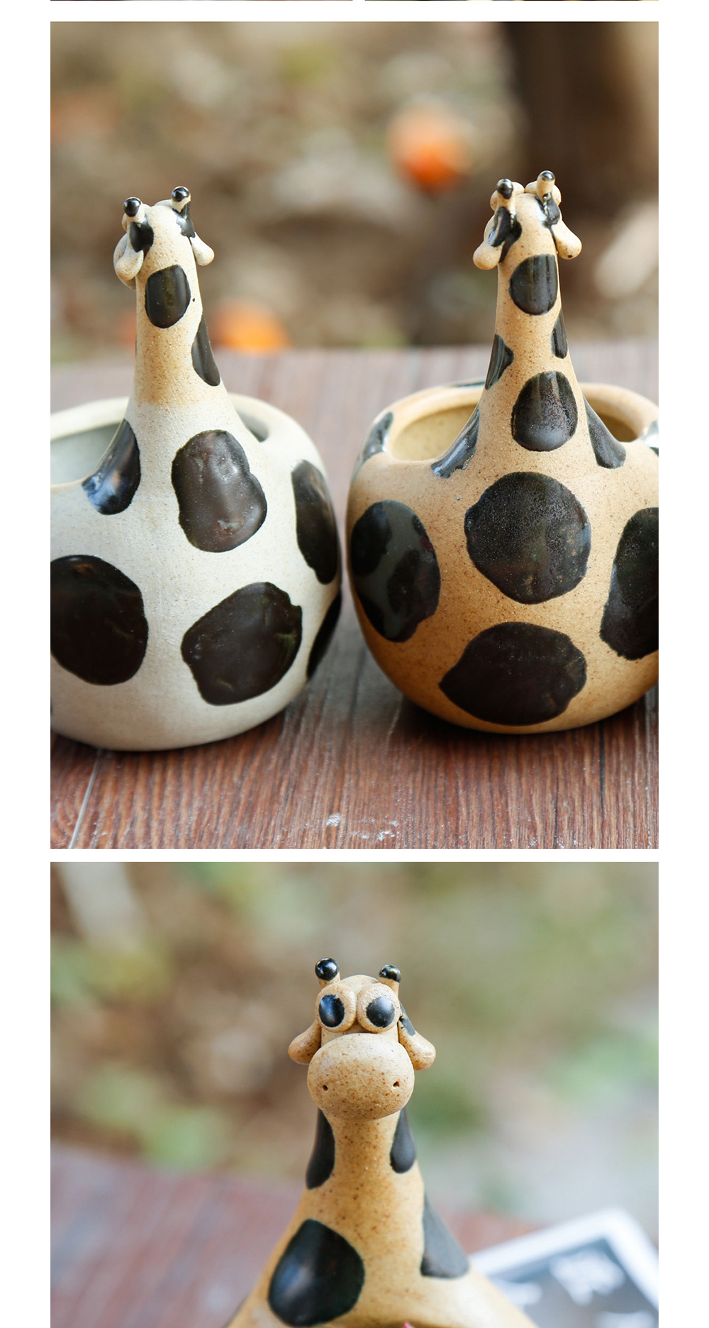 Giraffe Flower Pot Handmade Creative Pot